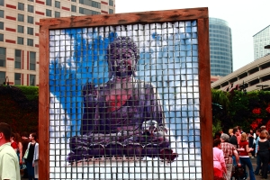 There was an amazing Buddah fixture that looked to be made of hanging tiles