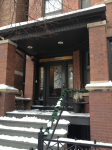 We headed to Chicago for a work event and walked past our future apartment (we hope), and this could be my front door!!